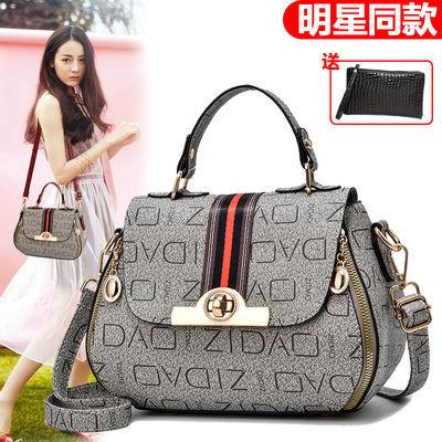 复古小包包女夏季新款潮韩版百搭斜挎手提包单肩包时尚印花小圆包