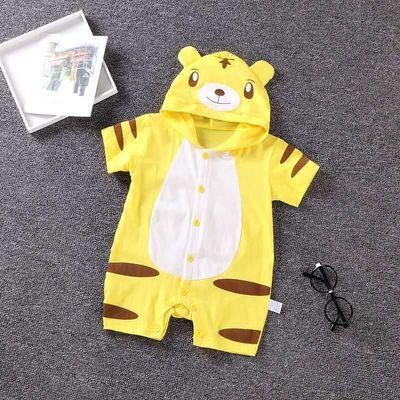 Ai宝宝连体衣造型衣夏季婴儿哈衣3-6-12月新生儿爬服拍照服纯棉西