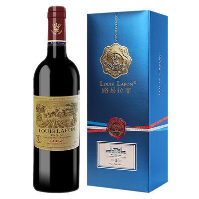 法国原瓶进口路易拉菲公爵领地干红葡萄单支双支精美礼品盒装红酒