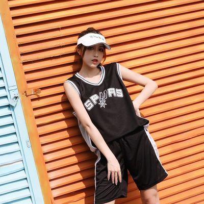 女生篮球服套装比赛定制 灌篮高手背心球衣学生班服运动会DIY定制