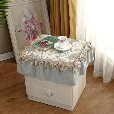 【一个装】欧式床头柜盖布防滑防尘罩蕾丝花边冰箱盖布洗衣机盖巾