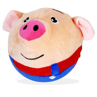 宝宝海草猪毛绒猪会说话跳跳球学说话电动跳跳猪充电款男女孩玩具