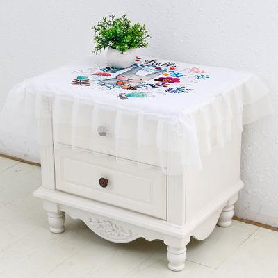 床头柜盖巾多用途冰箱罩饮水机盖布电视机罩田园系列万能盖巾防尘