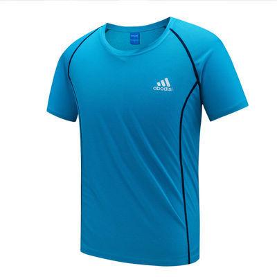 夏季速干t恤男女透气吸汗户外运动跑步登山大码宽松短袖健身T恤