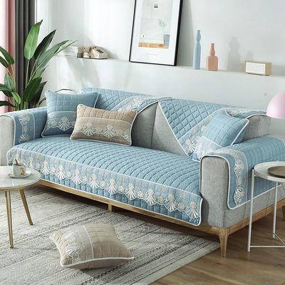 沙发垫四季通用防滑坐垫子全包万能套罩加厚北欧简约靠背垫盖布巾