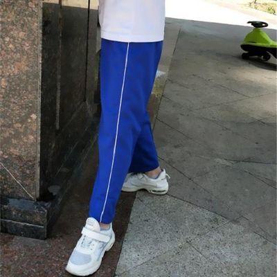 一条杠蓝色校服裤子宝蓝色白条纹运动学生裤小学初中高中学生校裤