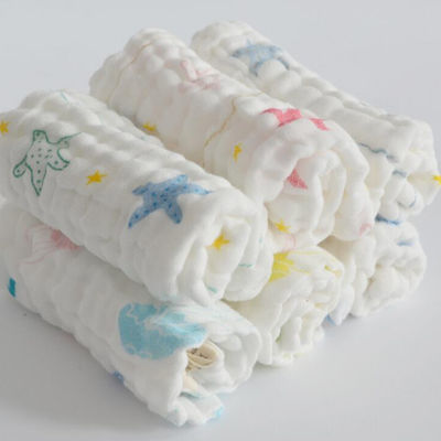 喂奶巾新生儿洗脸澡小毛巾手绢帕方巾婴儿纯棉纱布口水巾宝宝围嘴