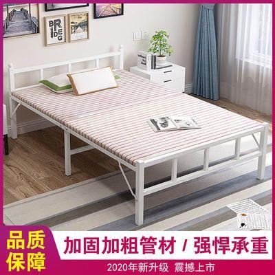 折叠床单人午休办公室午睡简易便携家用陪护租房成人双人木板铁床