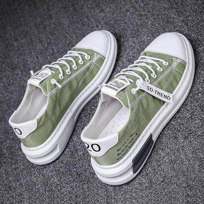 鞋子男2020款夏季学生帆布鞋休闲百搭男士板鞋韩版潮流透气布鞋子