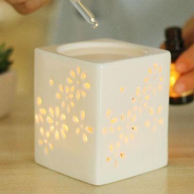 包邮蜡烛香薰炉 精油灯 镂空精油炉 陶瓷香薰灯