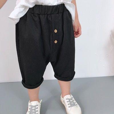 童装男童裤子夏装新款中小童休闲裤洋气薄款中裤儿童棉麻七分裤潮