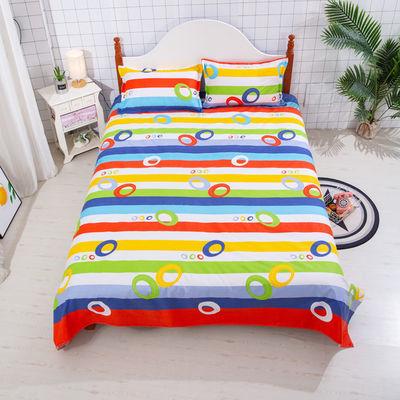 100%纯棉老粗布床单单三件套件帆布凉席布四季布床单炕单宿舍床单