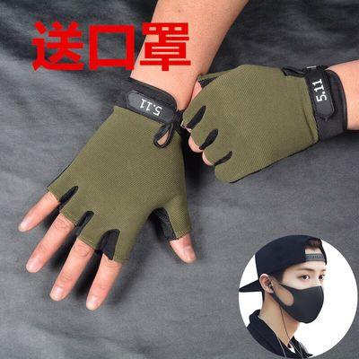 韩版男女511防晒防滑半指户外手套薄款开车战术健身运动长指手套