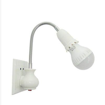 家用螺口灯泡灯头台灯照明灯座转换器插头插座灯插电带开关补光灯