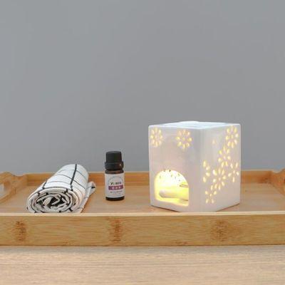 陶瓷香薰灯精油灯蜡烛香薰机卧室家用美容院熏香炉精油香薰炉浪漫