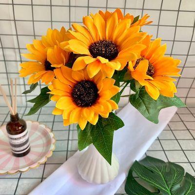 送花瓶】向日葵仿真花太阳花洋牡丹客厅摆件婚庆假花干花拍照装饰