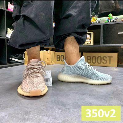 椰子鞋yeezy350v2巴斯夫限定满天星冰蓝天使Boost莆田男女运动鞋