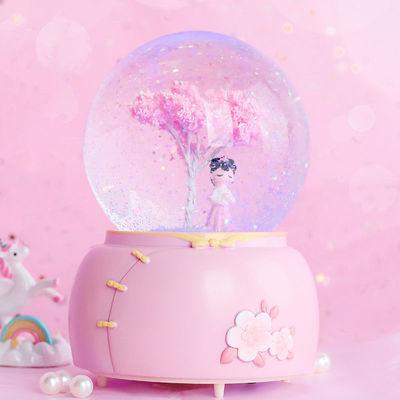 生日礼物水晶球音乐盒灯光手摇雪花送孩子送女生女友生日节日礼品