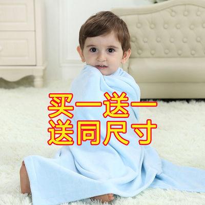 洗澡巾毛巾被盖毯春夏婴儿浴巾纯棉超柔吸水正方形新生儿宝宝蓝色