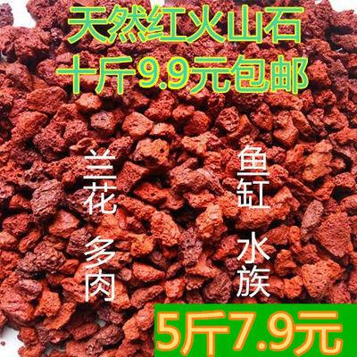 火山石颗粒火山岩兰花植料铺面石多肉营养土鱼缸水族包邮天然红