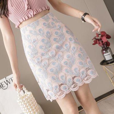 蕾丝短裙半身裙夏季2020新款高腰显瘦小清新A字裙时尚ins包臀裙