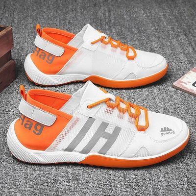 男士夜光网面鞋2020新款夏季韩版潮流鞋子男运动休闲鞋透气帆布鞋