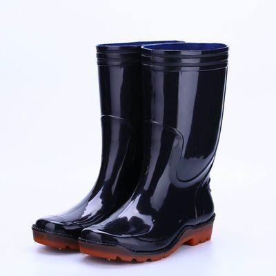 雨鞋男士高筒加厚防滑防水鞋工作厨房劳保牛筋底橡胶鞋长中筒雨靴