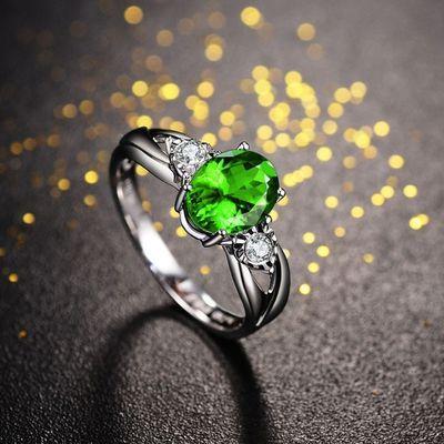 乘风破浪同款戒指 石榴石戒指女 姐姐同款戒指 可爱坦桑石戒指盒