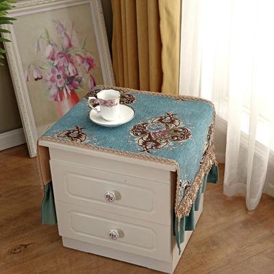 【一个装】雪尼尔欧式床头柜盖布防滑防尘罩多用万能盖巾蕾丝花边