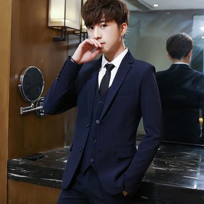 商务正装西服套装男韩版修身西装学生青少年西装新郎伴郎结婚礼服