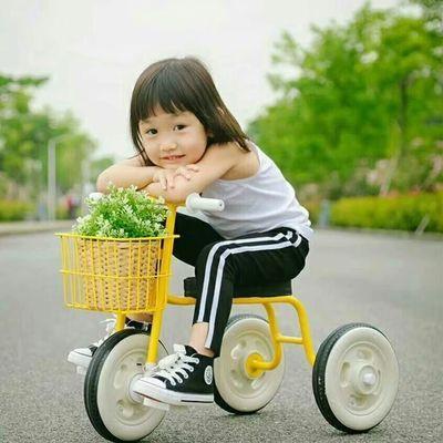 儿童三轮车溜娃神器1-6岁宝宝手推车男女孩脚踏车童车玩具车