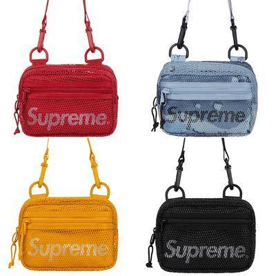 现货Supreme挎包新款 20SS潮牌单肩包手机包运动休闲包小包男女包