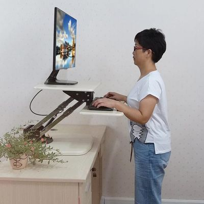 包邮站立式办公电脑桌站立电脑桌站坐两用电脑桌可站可坐桌飘窗桌