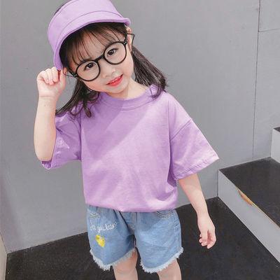 女童短袖t恤韩版宽松2020新款儿童洋气半袖小宝宝衣服夏季上衣潮