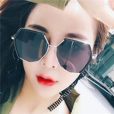 多边形太阳镜女韩版潮复古原宿风墨镜时尚网红款眼镜圆脸防紫外线