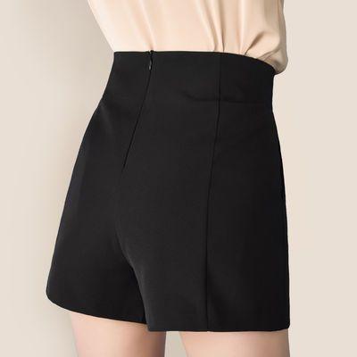 短裤女夏高腰宽松韩版2020新款显瘦阔腿百搭a字白色西装短裤外穿