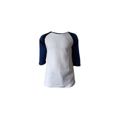 给力铺出欧美男春秋款毛圈棉蓝白黑拼接T恤衫吊牌25.99欧独立包装