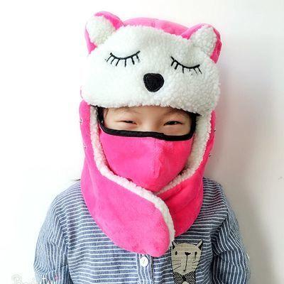 儿童棉帽子女韩版雷锋帽学生冬季可爱防寒防风帽护耳帽男童骑车帽
