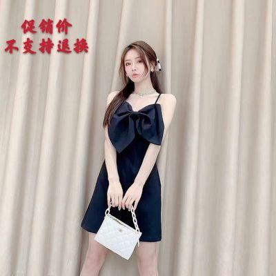 2020年夏季新款超美泰国潮牌同款大蝴蝶结小众吊带特色唯美连衣裙