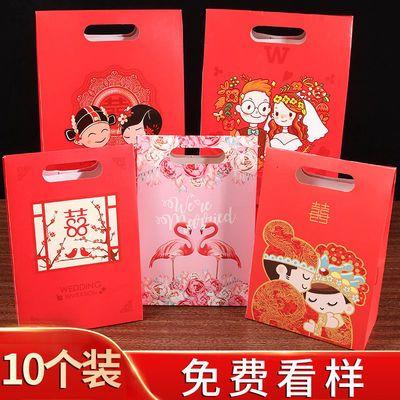 婚礼喜糖果包装盒大号礼盒装糖盒结婚庆手提袋中国风创意毛巾槟郎