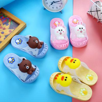 童1夏天软底卡通2防滑可爱3岁小孩专用5女宝宝女童凉鞋儿童拖鞋男