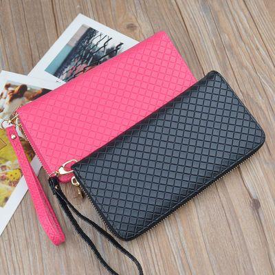 新款钱包女士手包长款拉链韩版女式大容量手提腕带手机包学生钱夹