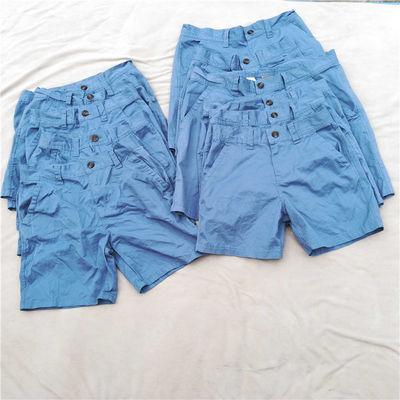 给力铺出德国儿童休闲西装短裤4兜多袋短裤天蓝色可亲子