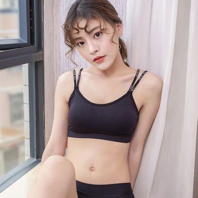 简约运动内衣女韩版背心式文胸美背防下垂高中初中生学生裹胸抹胸