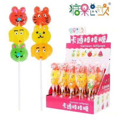 糖果总动员�ㄠ�动物串烧果汁软糖儿童创意造型糖果零食供超市