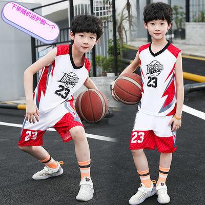 男童套装夏装洋气球衣中大童夏季儿童运动速干衣男孩篮球服背心帅