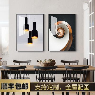 龙脊梯田餐厅装饰画现代简约饭厅建筑风景挂画酒店餐饮样板间壁画