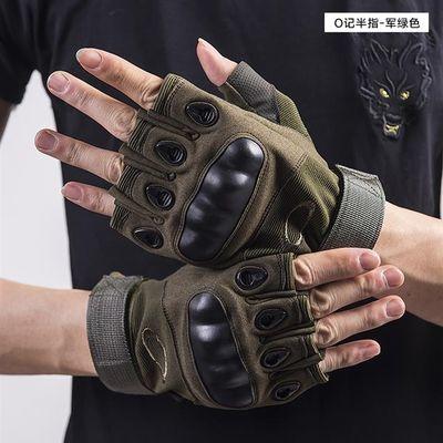 触屏户外战术冬季全指骑行运动男士手套特种兵防滑耐磨半指手套