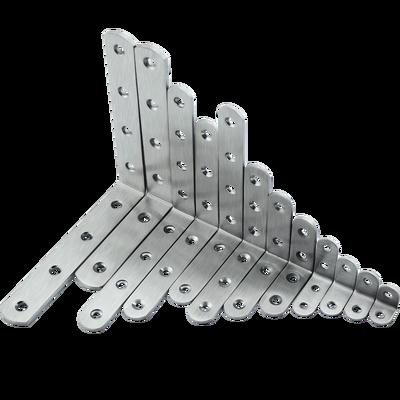 不锈钢角码90度直角加固定角铁L型三角支架层板托家具连接件配件