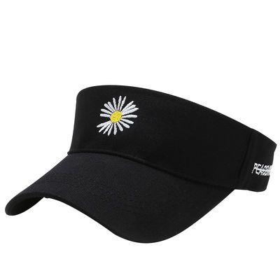 小雏菊空顶帽遮阳帽女夏季潮户外运动小清新鸭舌帽无顶防晒太阳帽
